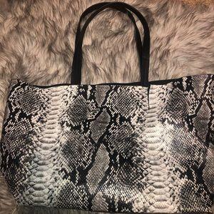 Summer & rose snake skin bag